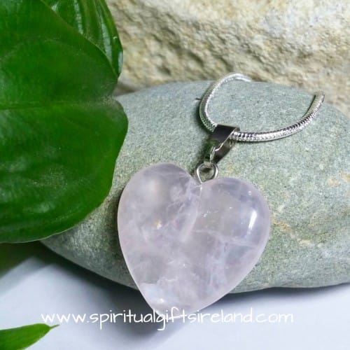 Rose Quartz Dainty Heart Necklace