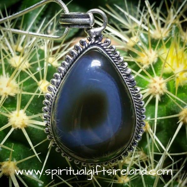 Eye Agate Gemstone Pendant