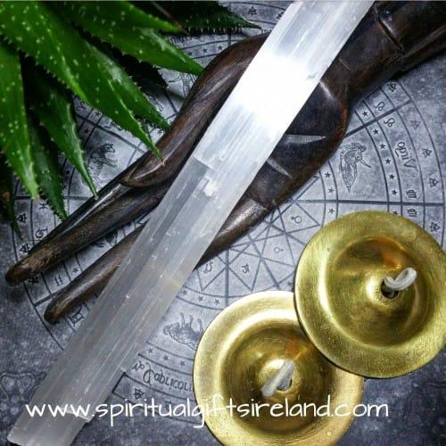 Selenite Crystal Gemstone Healing Wand