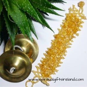Citrine Gemstone Chip Crystal Bracelet