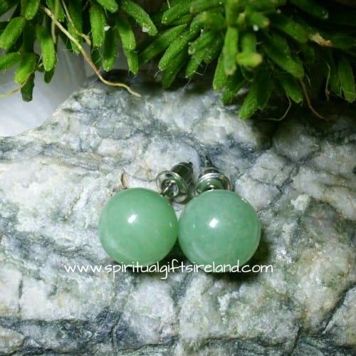 Aventurine Gemstone Stud Earrings