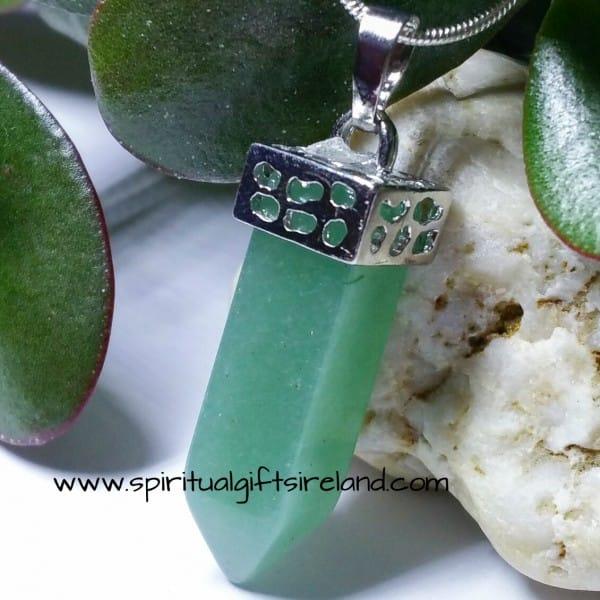 Aventurine Green Shimmer Pendant