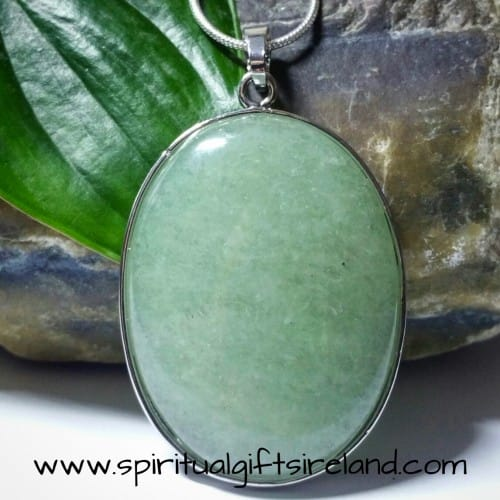 Aventurine Green Mica Shimmer Handcrafted Pendant Necklace