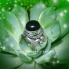 Black Onyx Totem Ring Sterling Silver