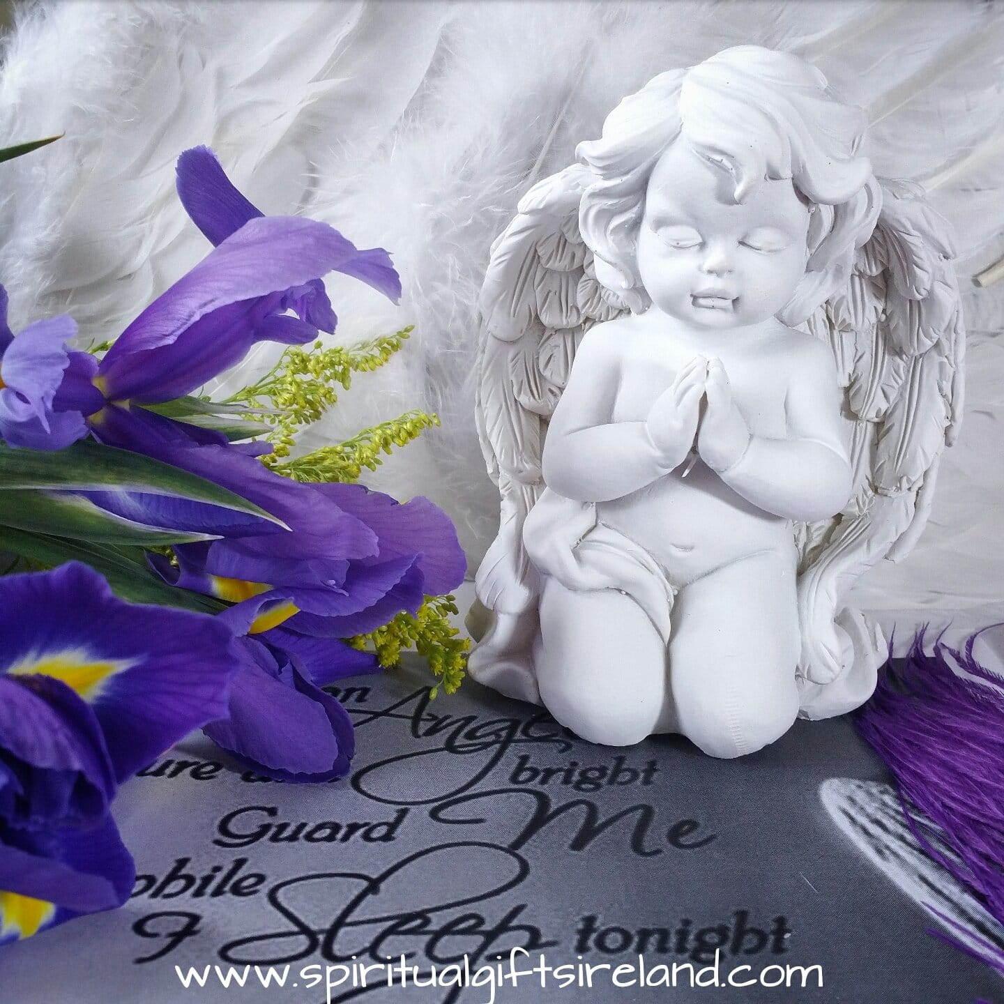 Angelic White Angel Statue
