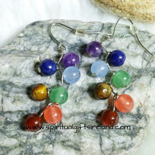 Chakra Stones Handmade Earrings
