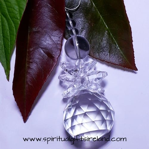 Clear Angel Crystal Suncatcher