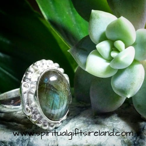 Labradorite Esoteric Sterling Silver Handcrafted Ring