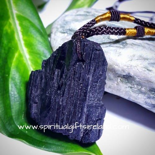 Large Black Tourmaline Necklace