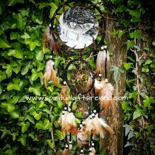 Medium Dreamcatcher Snow Wolves