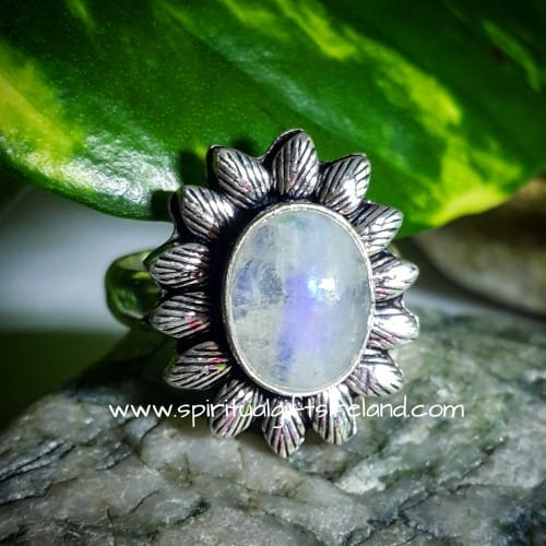 Moonstone Ring Sterling Silver