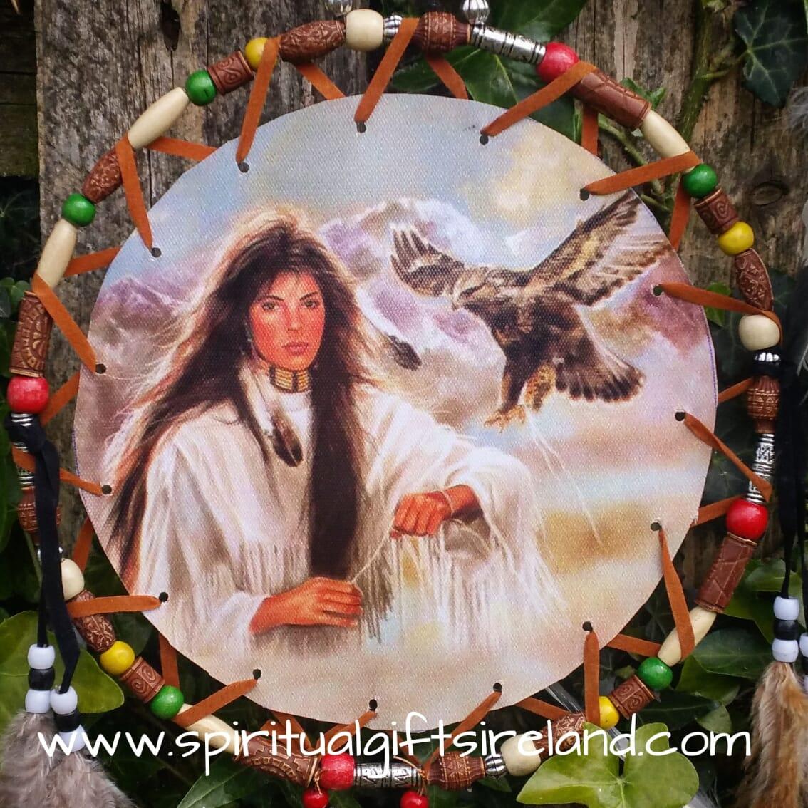 Native American Spirit Animal Dreamcatcher Extra Large 3 Ring
