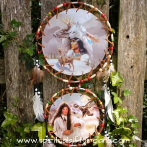 Native American Spirit Animal Dreamcatcher Extra Large 3 Ring