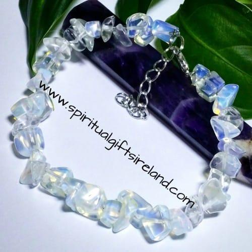 Opalite Gemstone Chip Bracelet