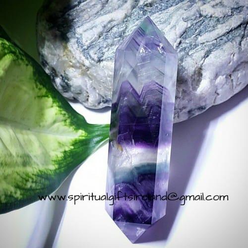 Rainbow Fluorite Crystal Wand