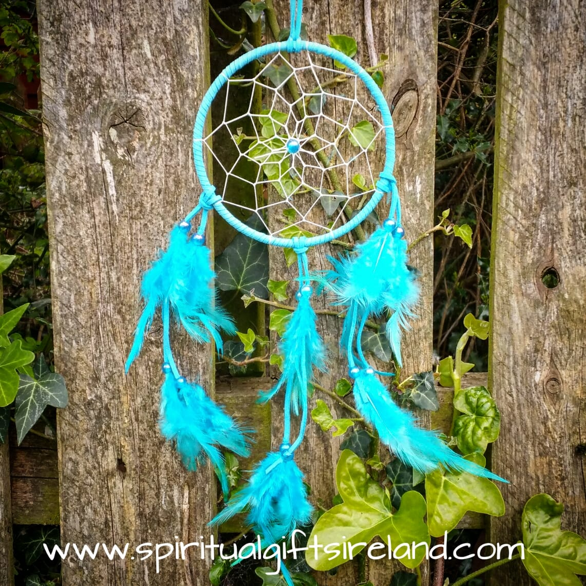Turquoise Dreamcatcher Fluffy Feathers