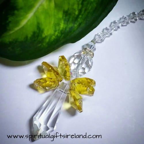 Yellow Angel Swarovski Crystal Suncatcher