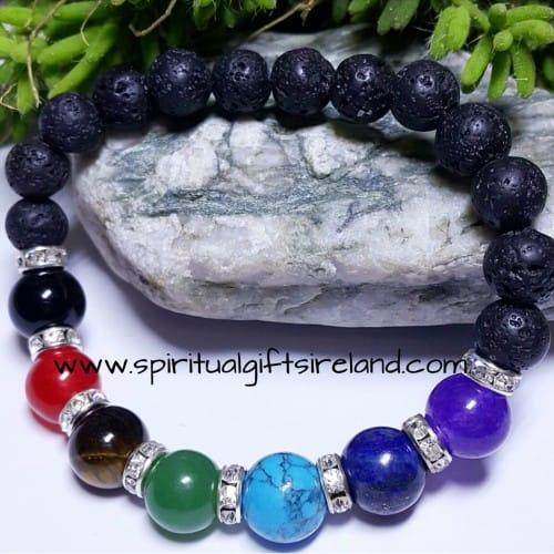 Chakra Bracelet Lava Stone