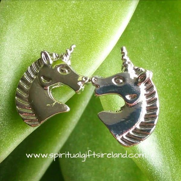 Unicorn Stud Earrings Silver