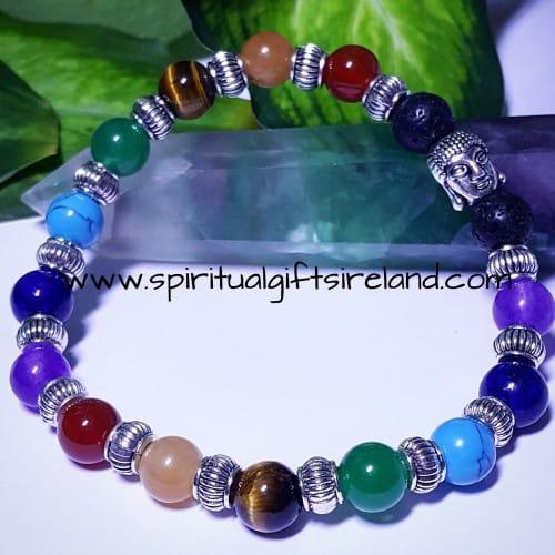 Chakra Buddha Crystal Bracelet