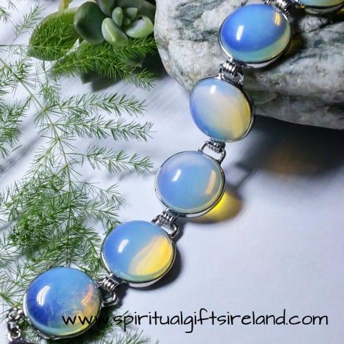 Opalite Moon Beam Gemstone Crystal Bracelet Adjustable