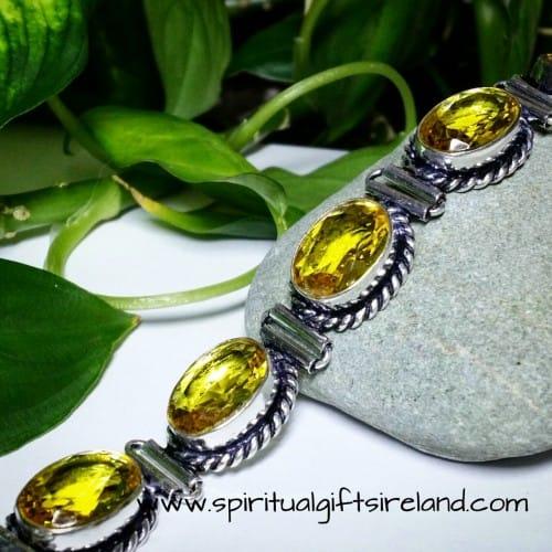 Citrine Sterling Silver Bracelet