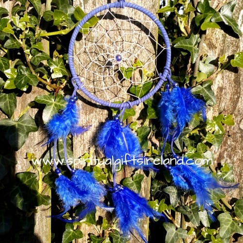 Fluffy Feather Blue Dreamcatcher