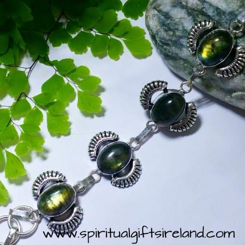 Labradorite Handcrafted Sterling Silver Bracelet