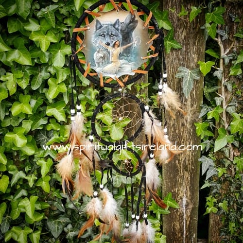 Medium Dreamcatcher Wolf Tribe