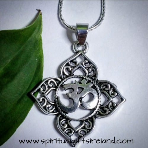 Om Symbol Silver Necklace