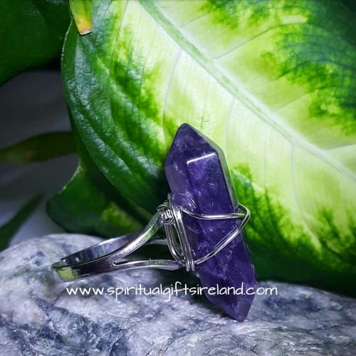Amethyst Double Terminated Ring