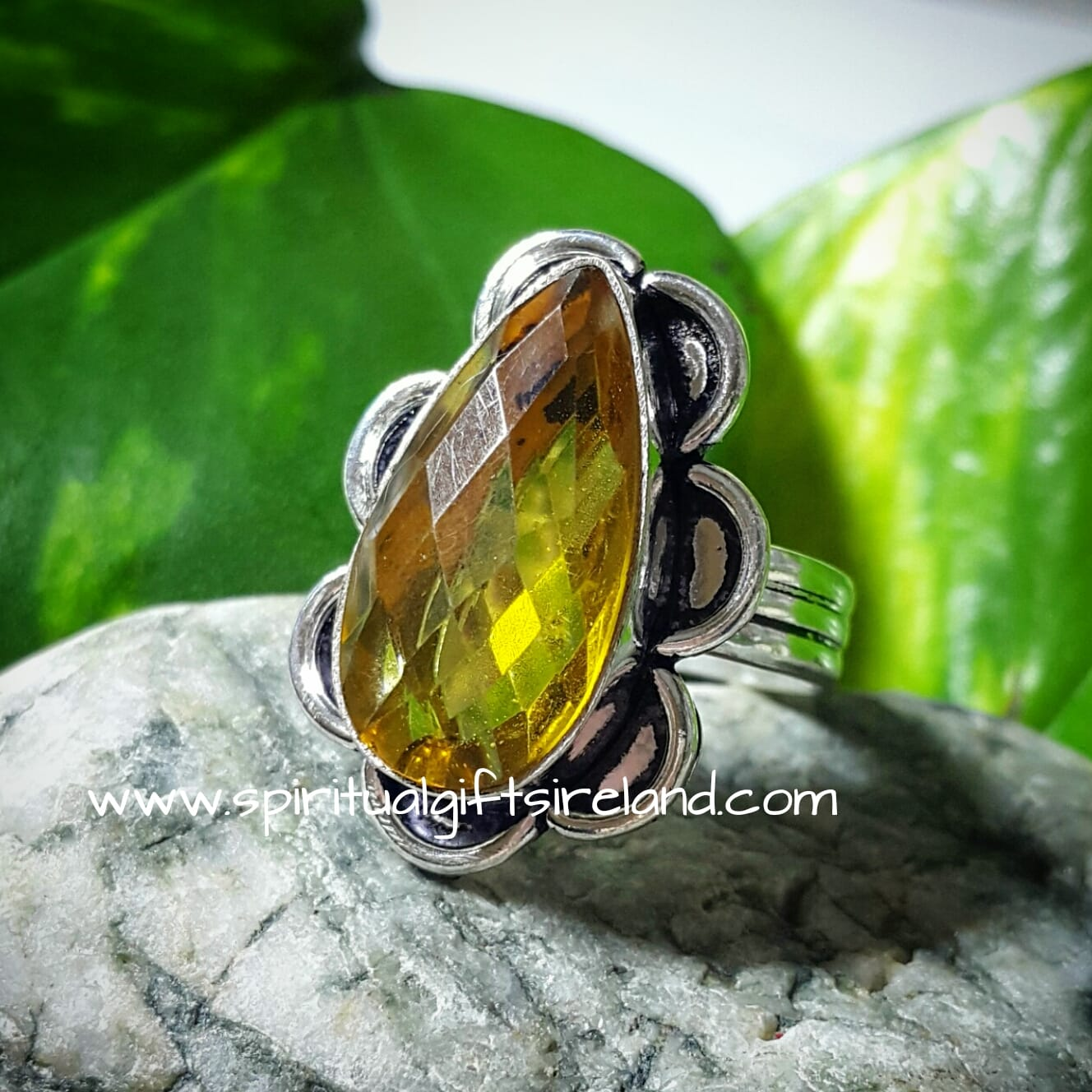 Citrine Ring Sterling Silver