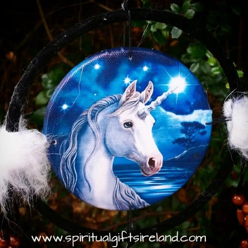 Free Spirit Unicorn Mandala Dreamcatcher