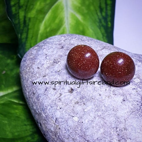 Goldstone Stud Earrings