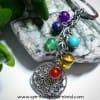 Lotus Medal Chakra Crystal Keyring