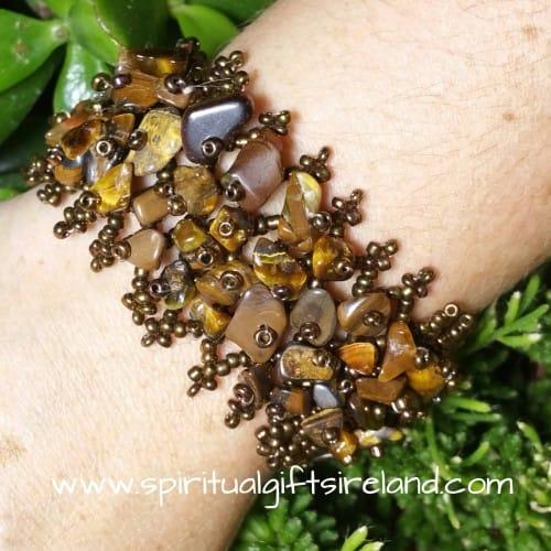 Tigers Eye Gemstone Chip Bracelet