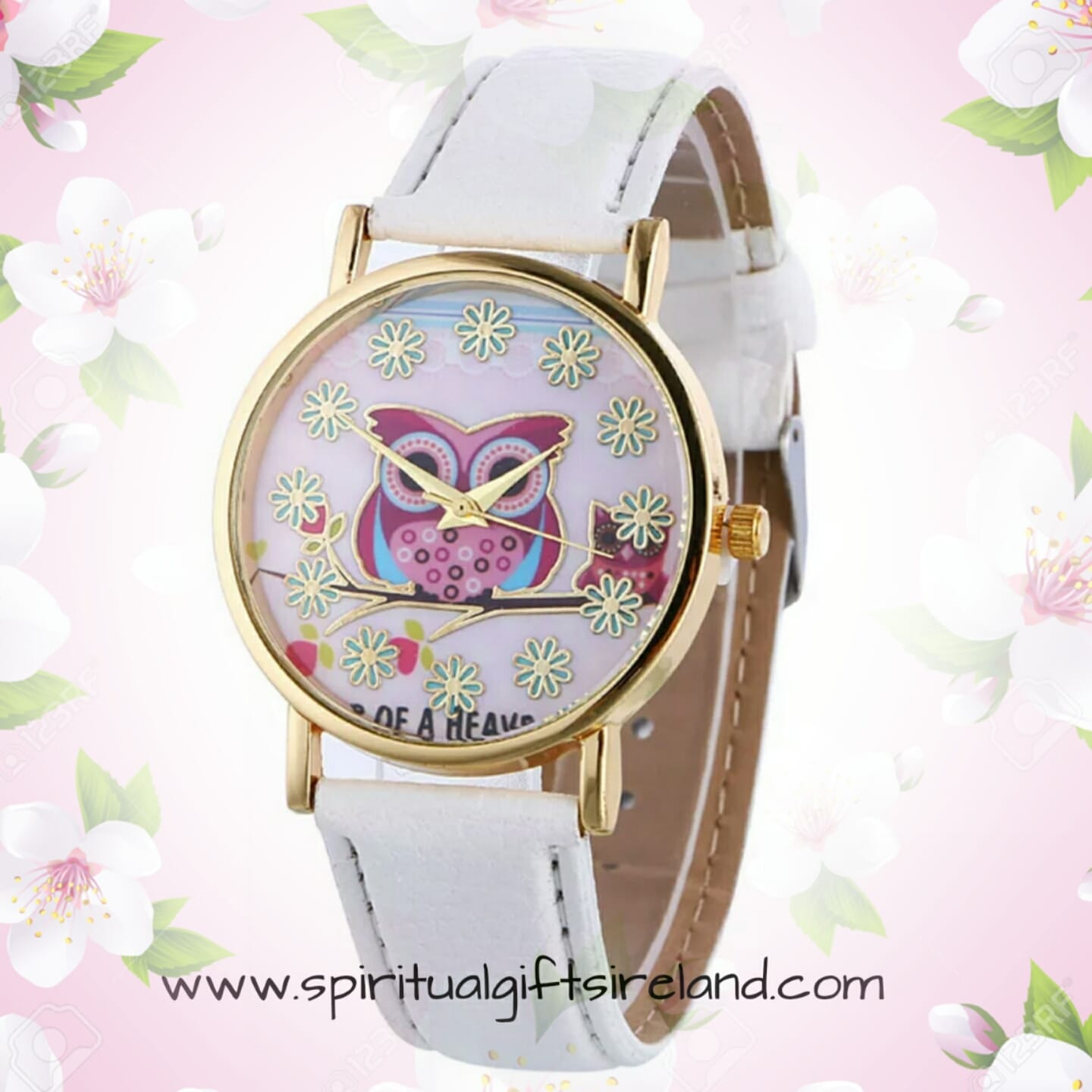 White Owl Quartz Wristwatch