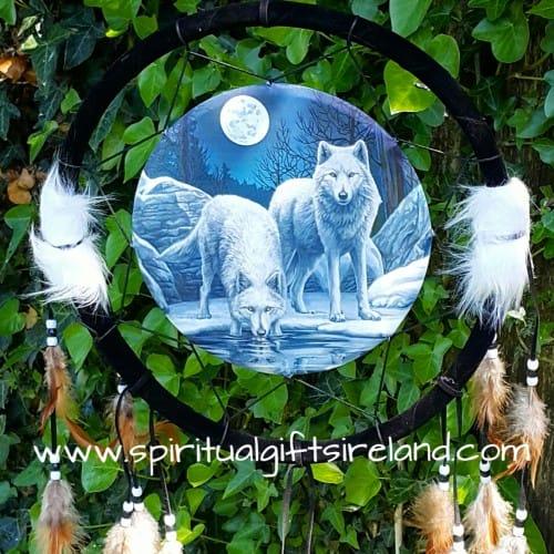 Wolf Dreamcatcher Mandala Small