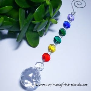 Chakra Rainbow Swarovski Crystal Hanging Suncatcher