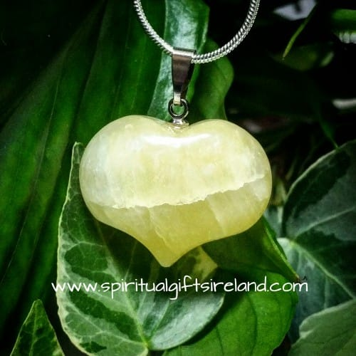 Citrine Dainty Heart Gemstone Crystal Pendant