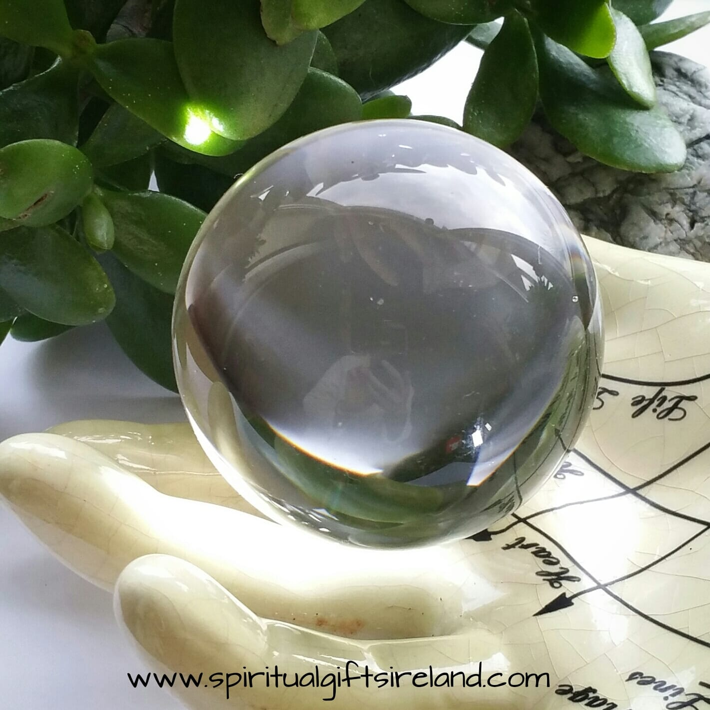 Crystal Oracle Divination Ball Glass Stand Included