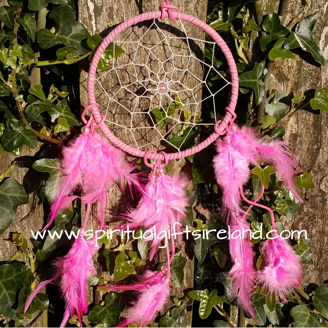 Pink Dreamcatcher Fluffy Feathers