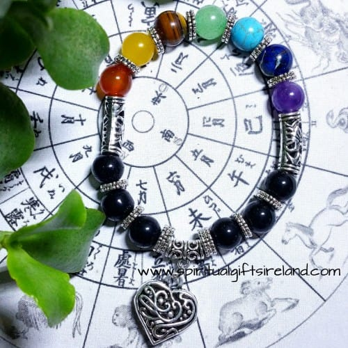 Chakra Heart Protection Bracelet Handmade Large 10mm Stones