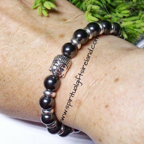 Hematite Crystal Gemstone Bracelet