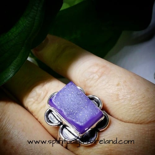 Quartz Ring Druzy Sterling Silver