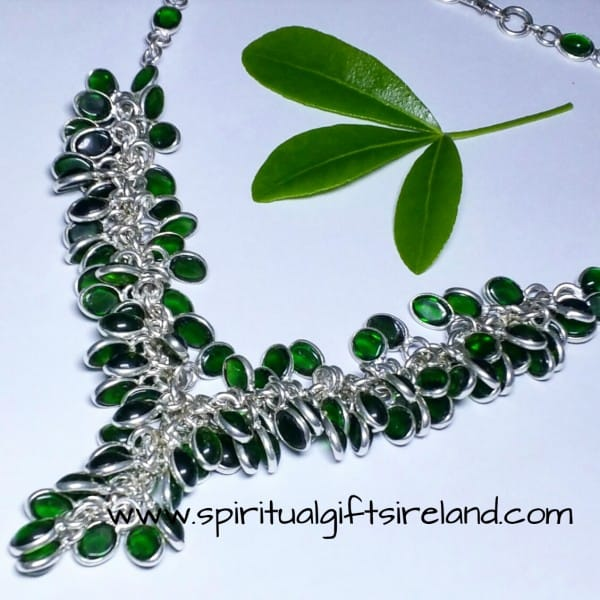 Tsavorite Grape Vine Necklace