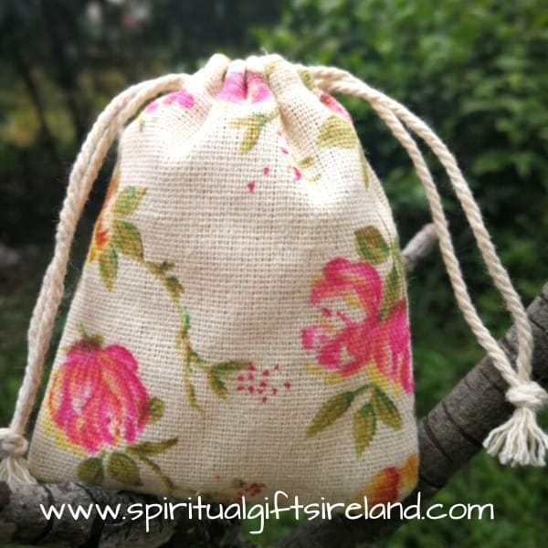Cotton Gift Bag Drawstring Rose