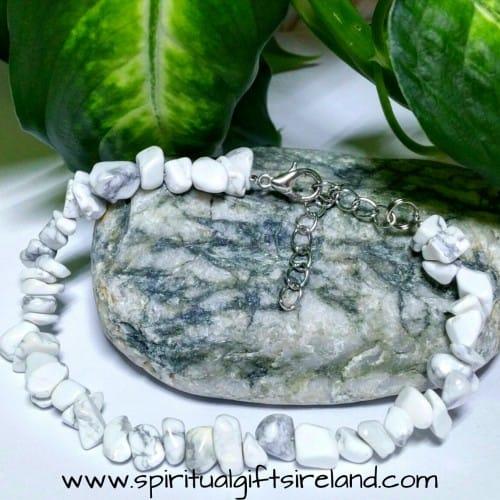 White Turquoise Stone Bracelet
