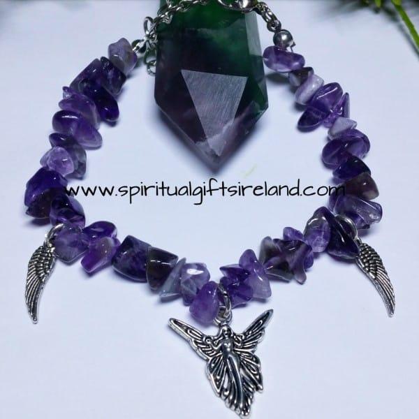 Amethyst Angel Crystal Bracelet