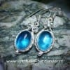 Aquamarine Handcrafted Sterling Silver Drop Earrings
